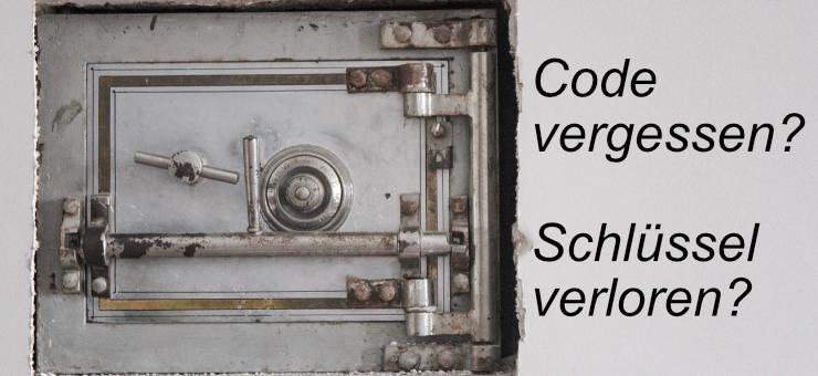 Haben Sie den Tresor Code vergessen oder den Tresor Schlüssel verloren? Wissen Sie nicht, was zu tun ist? Dann finden Sie hier die Antwort zur Tresoröffnung.